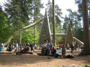 The playground at Thetford Forest